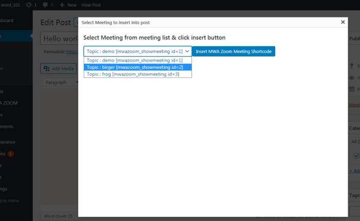 MWA Zoom Meetup Button Modal