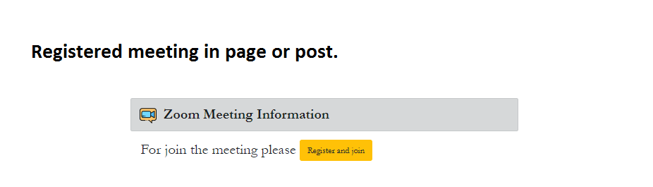 Shortcode on Page & Post