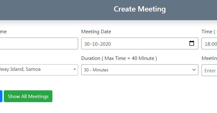 Create Meeting